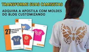 Compre a apostila do Customizando - Cortes Camisetas