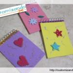 Customizando uma caderneta (ou bloquinho) com EVA