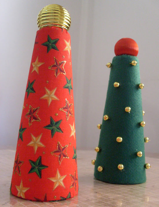 Customizando com rolo de barbante - árvore de natal