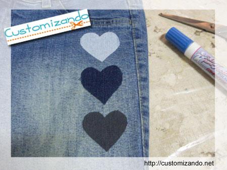 Customização de calça jeans sem costura