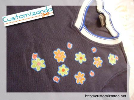 Customizando blusinhaa com chita