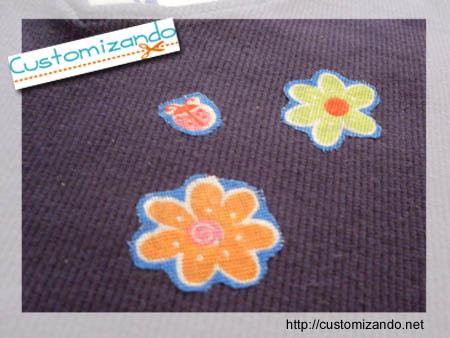 Customizando blusinha com chita