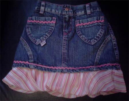 Saia jeans customizada