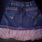 Customização de saia jeans curta: algumas ideias