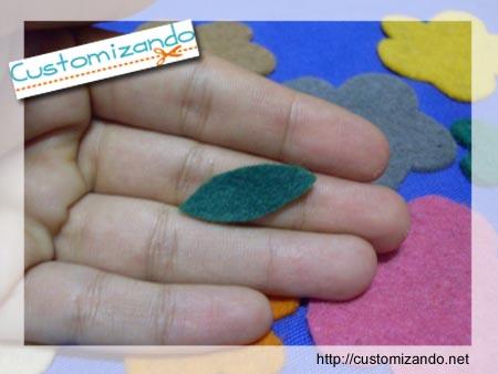 Ecobag customizada com flor de feltro