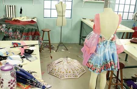 Customizando - Roupas feitas com guarda-chuva