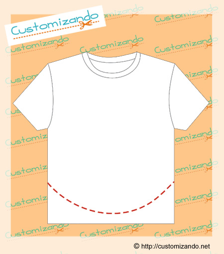 cortes de customização de camiseta