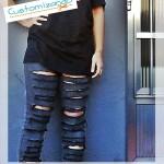 Como fazer calça jeans ripped