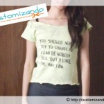 Blusinha (ou camiseta) com letra de música