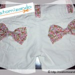 Customizando short com estampa floral