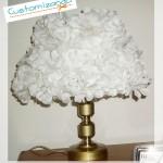 Customizando abajur com flores