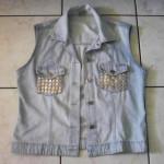 Transformando jaqueta em colete