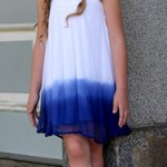Vestido com dip dye na barra