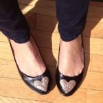 Customização de sapatilha com glitter