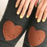 Calça legging com coração