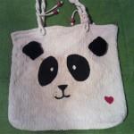 Customizando ecobag com motivo panda