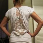 9 ideias de como customizar camiseta com renda