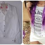 Customizando jaqueta/colete ombré
