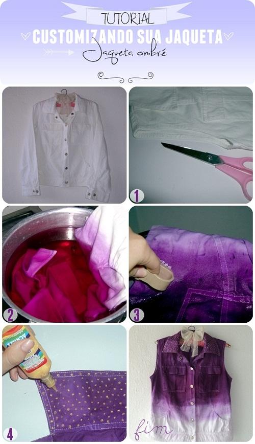customizando colete de jaqueta