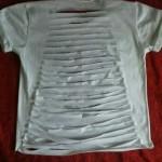 Como fazer camiseta com tiras nas costas