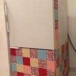 Customização de geladeira com tecido autocolante