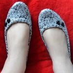 Customizando sapatilha com tecido