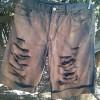 DIY - customizando bermuda jeans masculina
