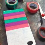 Customizando case de celular com fita adesiva