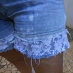 Como aumentar comprimento de short jeans