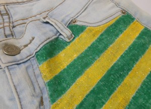 DIY como customizar short para Copa do Mundo Brasil