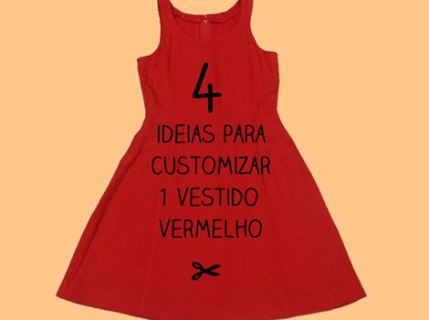 Ideias para customizar vestido vermelho