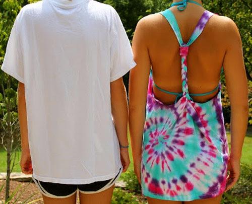 DIY Como transformar camiseta em saída de praia