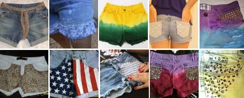 5 dicas mais procuradas no Customizando - shorts