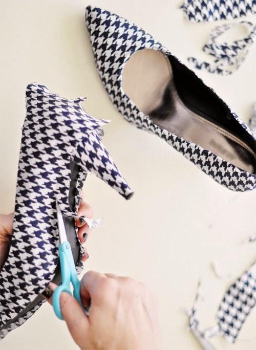 Como forrar sapato com tecido customizando blog de - Como reformar tu casa ...