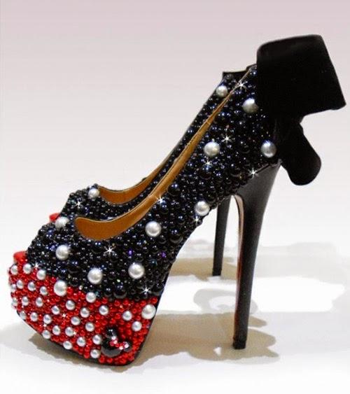 Inspiração: Minnie Mouse - sapato