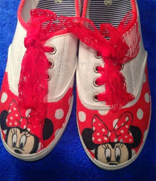 Inspiração: Minnie Mouse - tênis