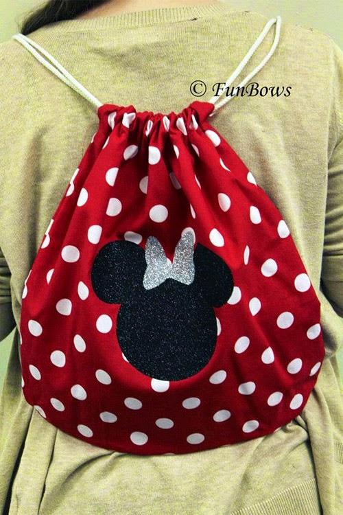 Inspiração: Minnie Mouse - mochila