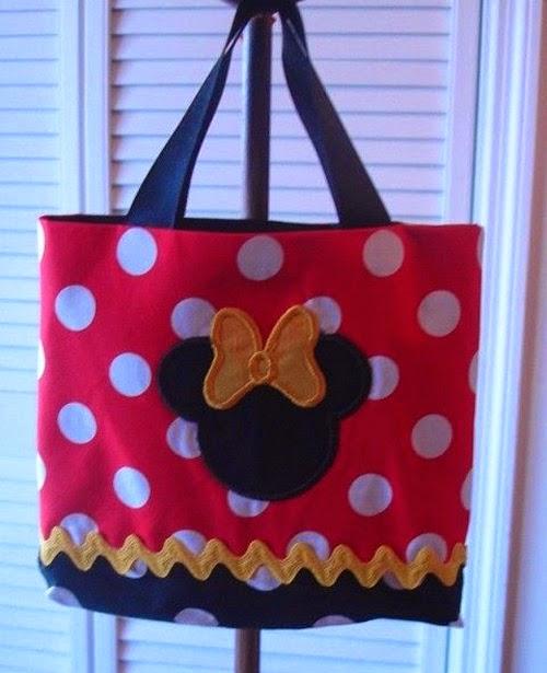 Inspiração: Minnie Mouse - bolsinha