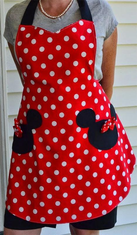 Inspiração: Minie Mouse - avental
