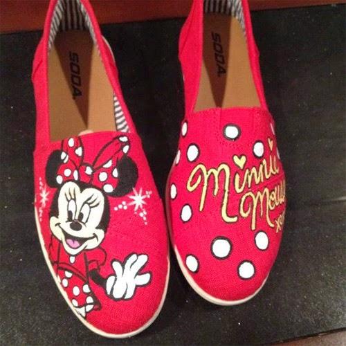 Inspiração: Minnie Mouse - sapatilha