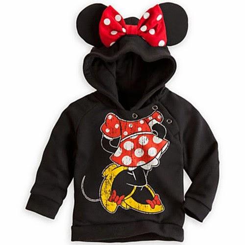 Inspiração: Minnie Mouse - agasalho com capuz