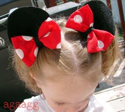 Inspiração: Minnie Mouse - orelhas com lacinho