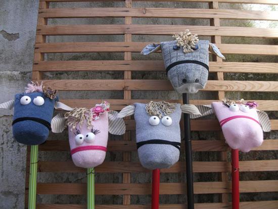 Brinquedos feitos com meia