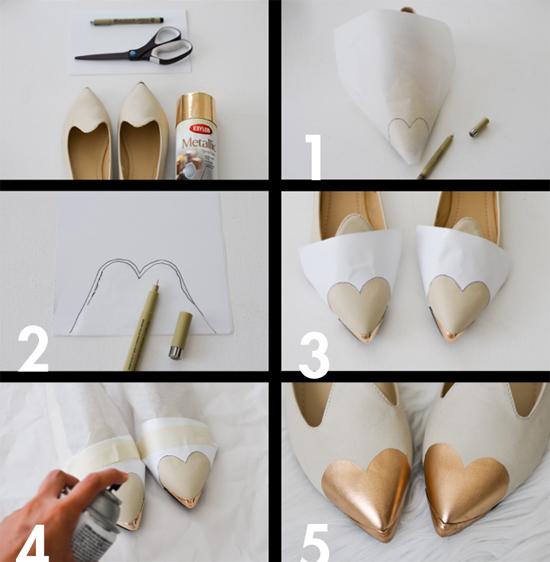 Como fazer bico de coração no sapato