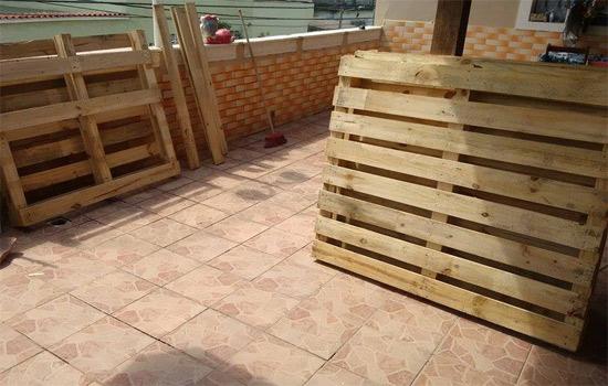 Decoração de sala com pallets customizados