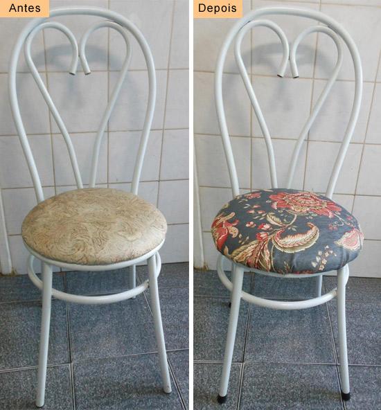 Customizando cadeiras de cozinha