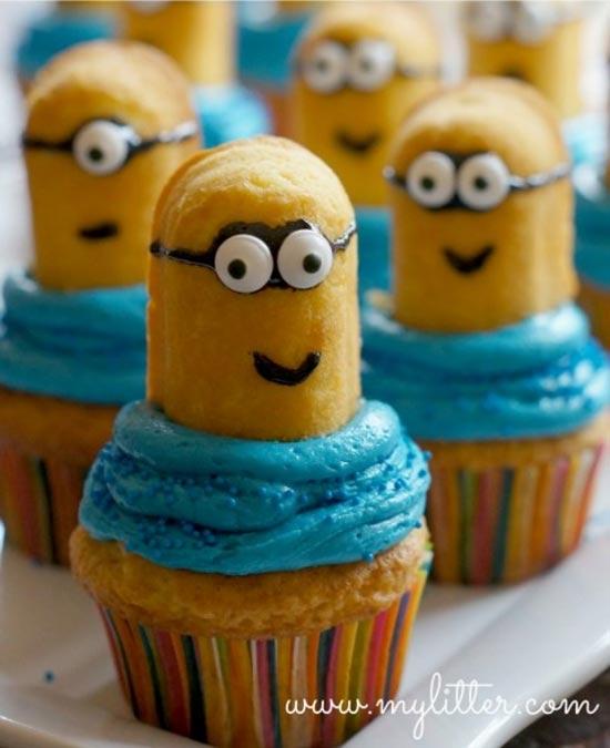 Como fazer cupcake de Minions