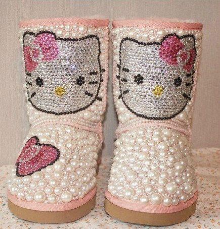 Inspiração Hello Kitty - botinha infantil