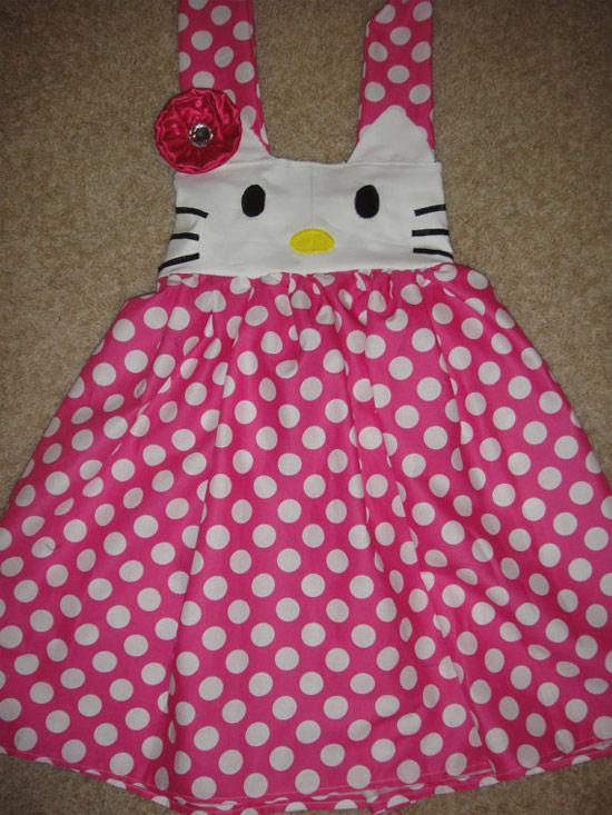 Inspiração Hello Kitty - vestido infantil