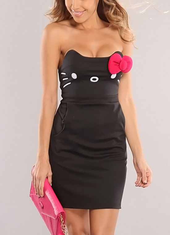 Inspiração Hello Kitty - vestido preto